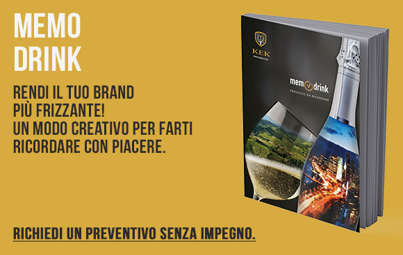Memo Drink - Prosecco personalizzato per un brand frizzante - Richiedi preventivo