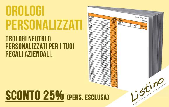 Intermedia Time - Listino catalogo orologi personalizzati - Sconto 25%