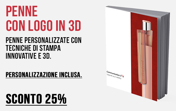 Erga made in italy - Penne personalizzate con tecniche di stampa innovative - Sconto 25%